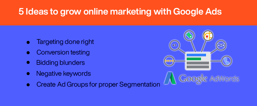 5 Ideas to grow online marketing with Google Ads